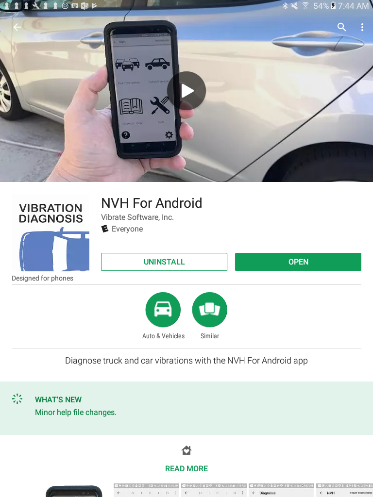 NVH for Android app on the Google Play Store