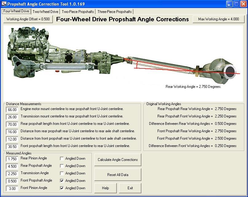 The Propeller Shaft Angle Calculator