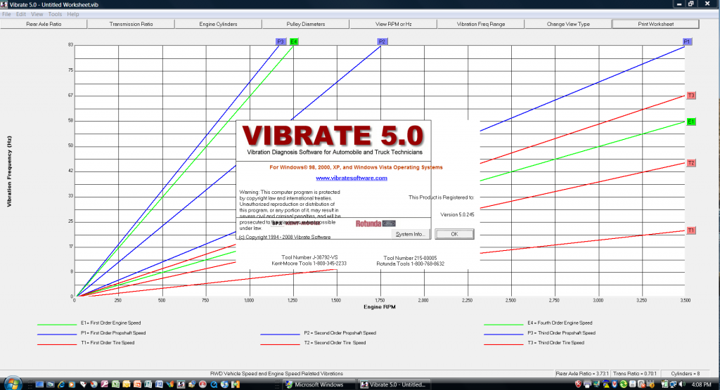 Vibrate 5.0 in Windows Vista SP1